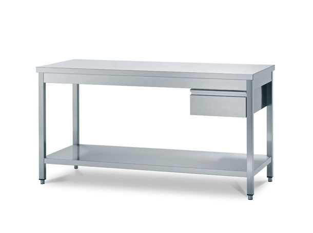 Work tables on legs for catering